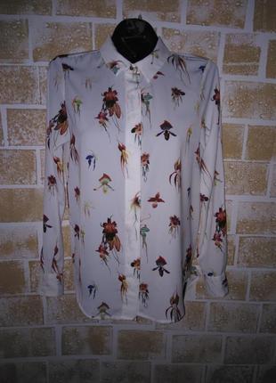 Актуальная винтажная рубашка в яркий цветочный принт от h&m .