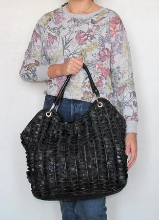 Нереальная сумка marina galanti, италия, натуральная кожа