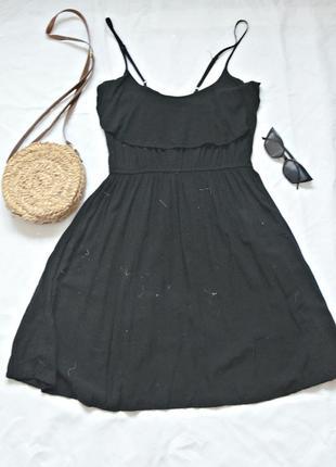 Легкий черний сарафан от cotton on