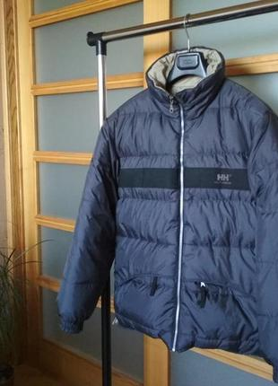 Дутый двухсторонний пуховик зимняя куртка helly hansen