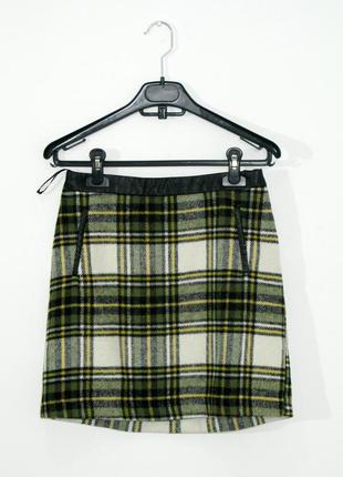 Классная зелено черная демисезонная юбка спідниця от atmosphere s