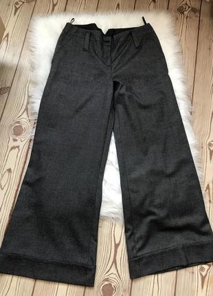 Фирменные широкие брюки в клеточку