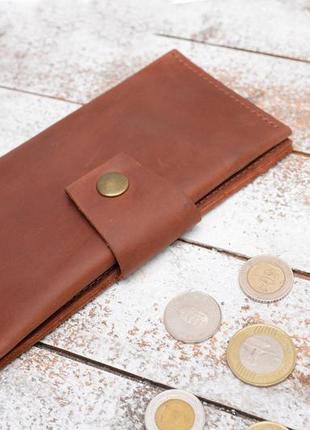 Кожа. ручная работа. кожаный коричневый женский кошелек, портмоне, клатч