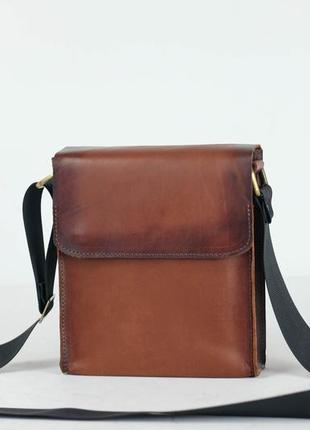 Итальянская кожа. ручная работа. кожаная мужская сумка