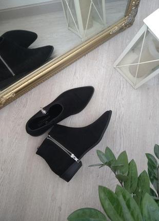 Челси h&m ботинки черные новые с острым носком остроносые демисезонные