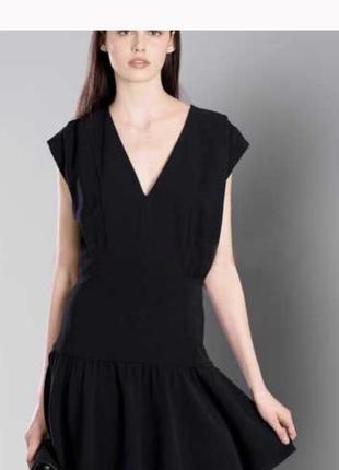 Платье дизайнерское стильное дорогой бренд zapa paris размер s/xs или 34-36