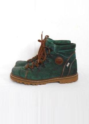 Замшевые кожаные осенние демисезонные ботинки michel jordi