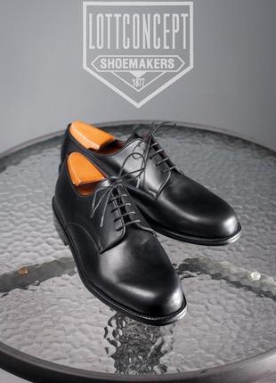 Кожаные дерби lottconcept 42р мужские туфли классические