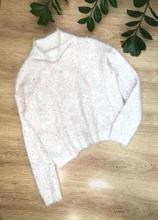 Стильный тёплый свитер m-l