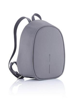Рюкзак антивор xd design bobby elle темно-серый из эко-кожи, оригинал, бобби