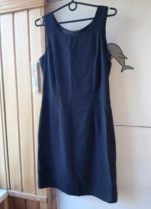 Платье базовое чёрное футляр майка деловое классика классическое без рукавов