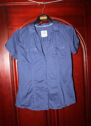 Хлопковая блузка, рубашка размер м от clockhouse, c&a