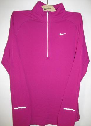 Женская спортивная кофта nike element розовая лонгслив