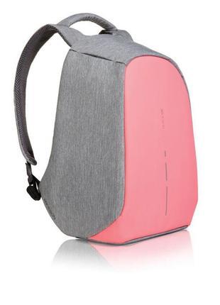 Рюкзак для ноутбука xd design bobby compact серо-розовый, оригинал