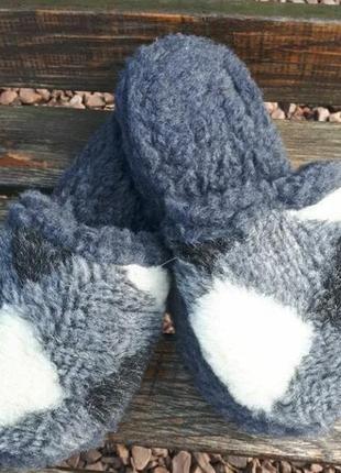 Тапочки овчина теплые мужские тапки