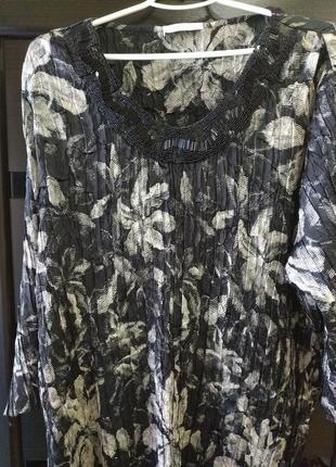 Большой размер нарядная блуза
