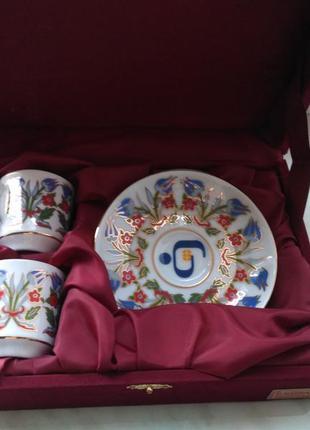 Фарфоровый порцеляновый кавовый набор сервиз gural porselen