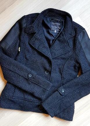 Куртка косуха пиджак текстиль с кожзамом cipo&baxx