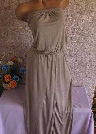 Трикотажное платье в пол размер eur 34/ 36
