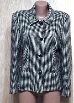 Шерстяной теплый пиджак жакет с карманчиками alexon, р.12_