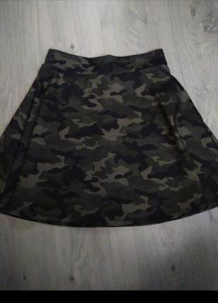 Милитари военная юбка колокол