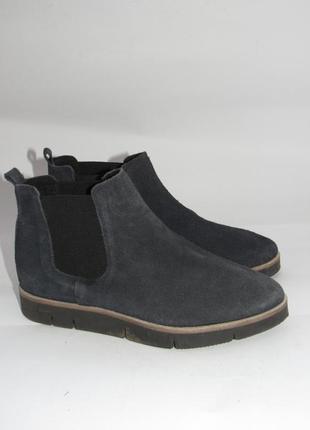 Нарядные стильные замшевые ботинки челси b24