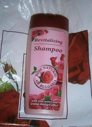 Ревитализирующий шампунь с розовой водой 250 мл болгария роза