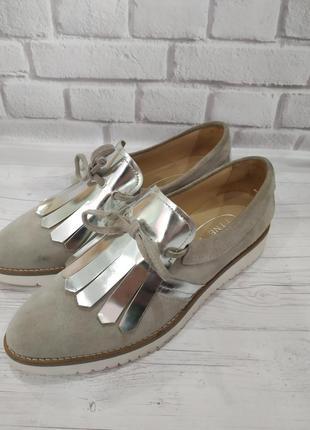 Туфли натуральный замш туфлі