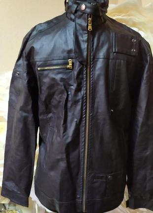Кожанная (кожзам) куртка
