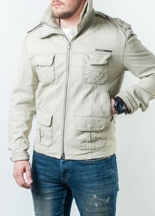 Оригинальная кожаная куртка superdry