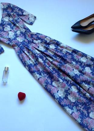 Платье рубашка миди в стиле винтаж ретро laura ashley