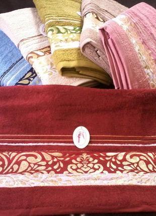 Комплект набор махровых лицевых полотенец (6 шт) 100×50