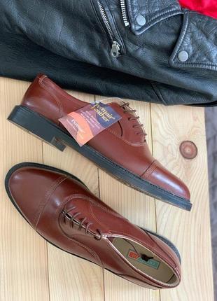 Очень качественные кожаные туфли ботинки 43 размер