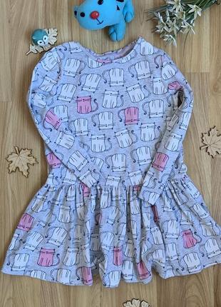 Фирменное платье f&f девочке 5-6 лет состояние отличное