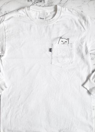 Белая кофта свитшот ripndip оригинал