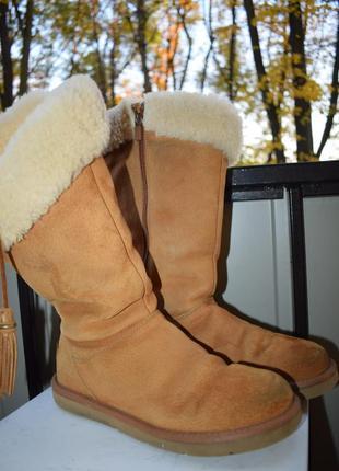 Замшевые угги уги валенки сапоги ботинки зимние овчина ugg