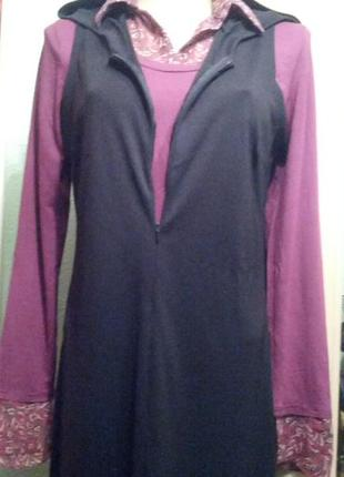 Обалденное платье в пол с капюшоном на стройняшку,44-46разм1 фото