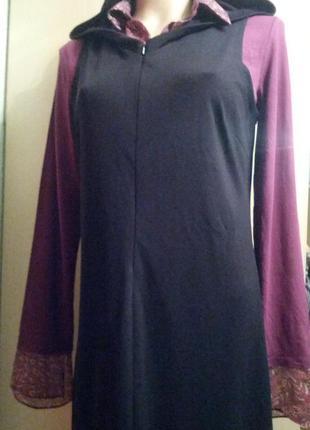 Обалденное платье в пол с капюшоном на стройняшку,44-46разм3 фото