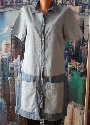 Платье джинс 100% котон