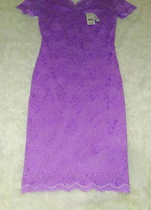 Шикарное кружевное платье george (s-m)