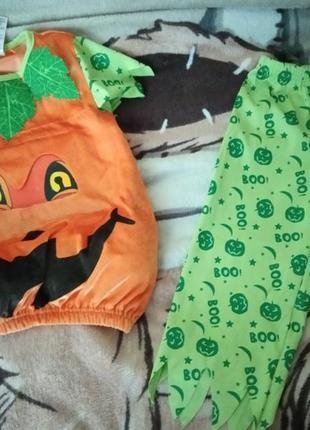 Костюм карнавальный тыква хеллоуин hellowin 1,5-2 года р.86-92