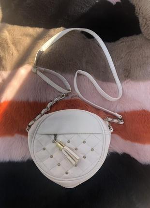 Маленькая белая сумка крос боди new look!