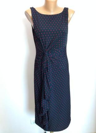 Суперовое прямое платье в горошек /m- l/ brend marks& spencer