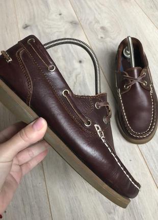 Топсайдеры туфли мокасины кожаные 36 р.