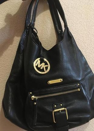 Черная сумка michael kors, кожа, оригинал