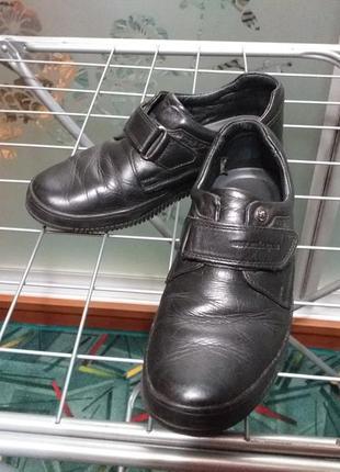 Черные кожаные туфли mida р.36