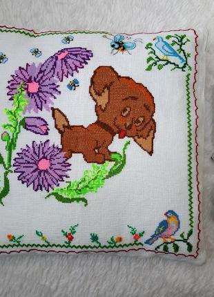 Новая детская подушка с наволочкой