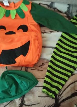 Костюм карнавальный тыква хеллоуин hellowin 2-3 года р.92-98