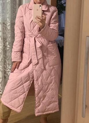 Стёганное пальто ромбы!