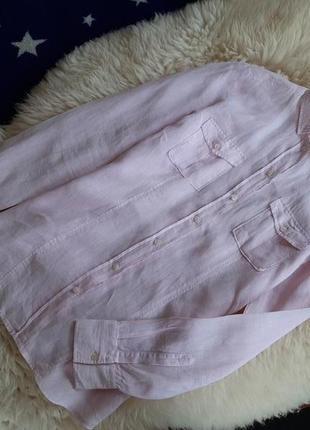 Нежная льняная рубашка jacques britt